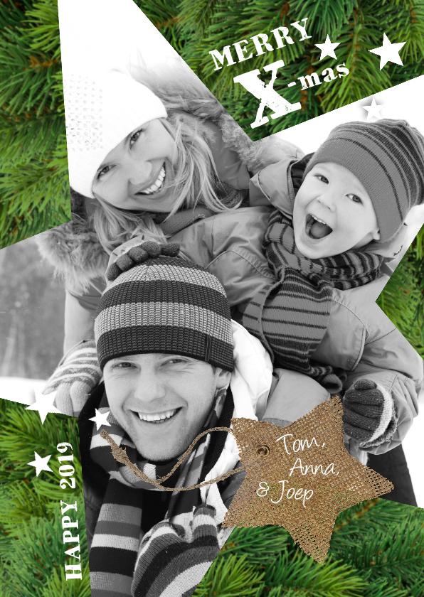 Kerstkaarten - Kerstkaart -Kerstster Dennetakken