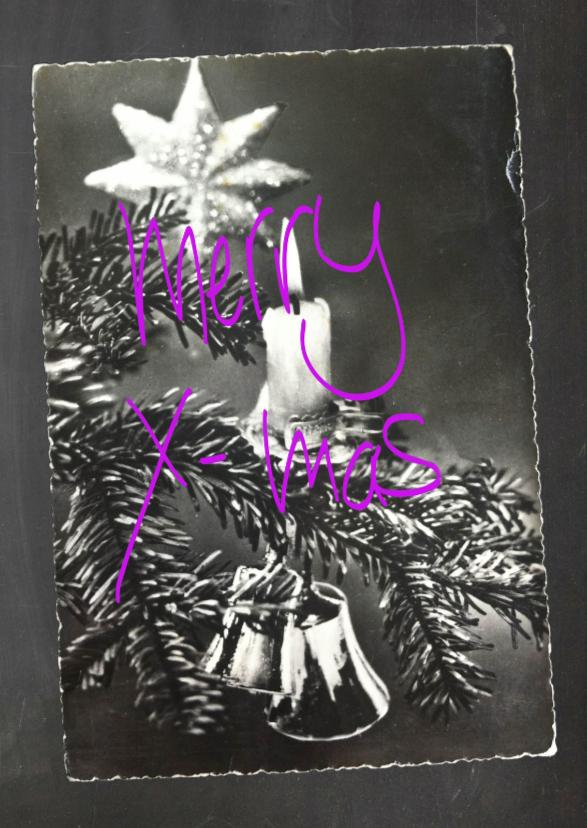 Kerstkaarten - Kerstkaart Kersttak
