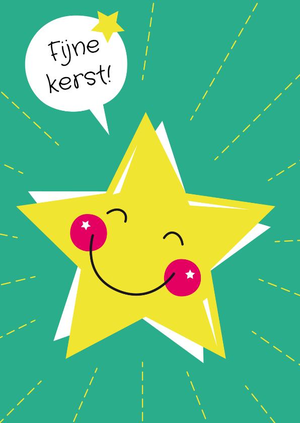 Kerstkaarten - Kerstkaart-Kind-Lachende Ster-HK