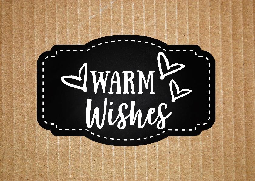 Kerstkaarten - Kerstkaart kraft warm wishes