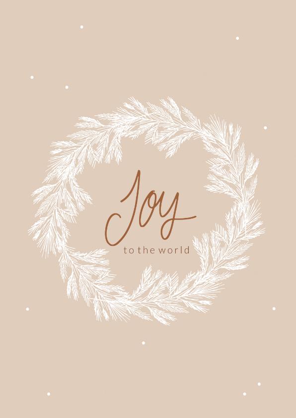 Kerstkaarten - Kerstkaart krans Joy