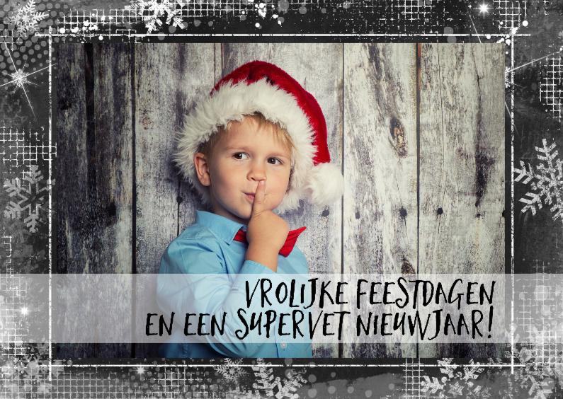 Kerstkaarten - Kerstkaart krijtbord eigen foto