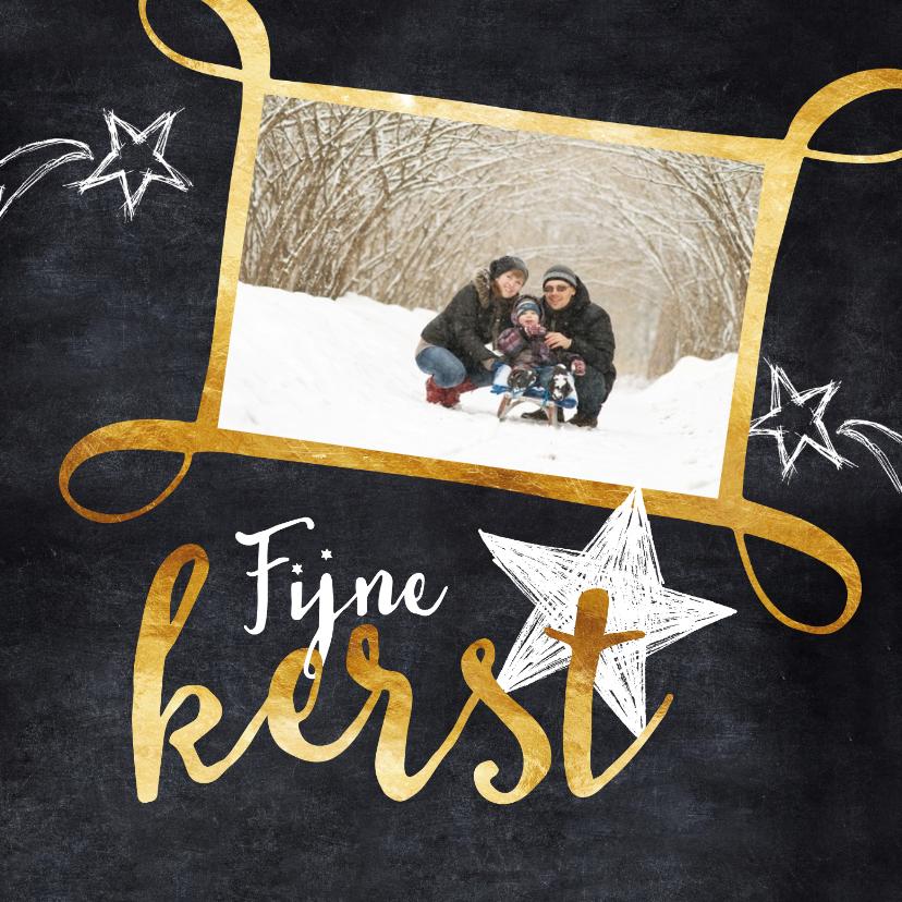 Kerstkaarten - Kerstkaart krijtbord en foto