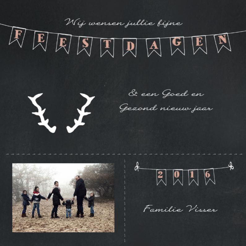 Kerstkaarten - Kerstkaart krijtbord slinger 1