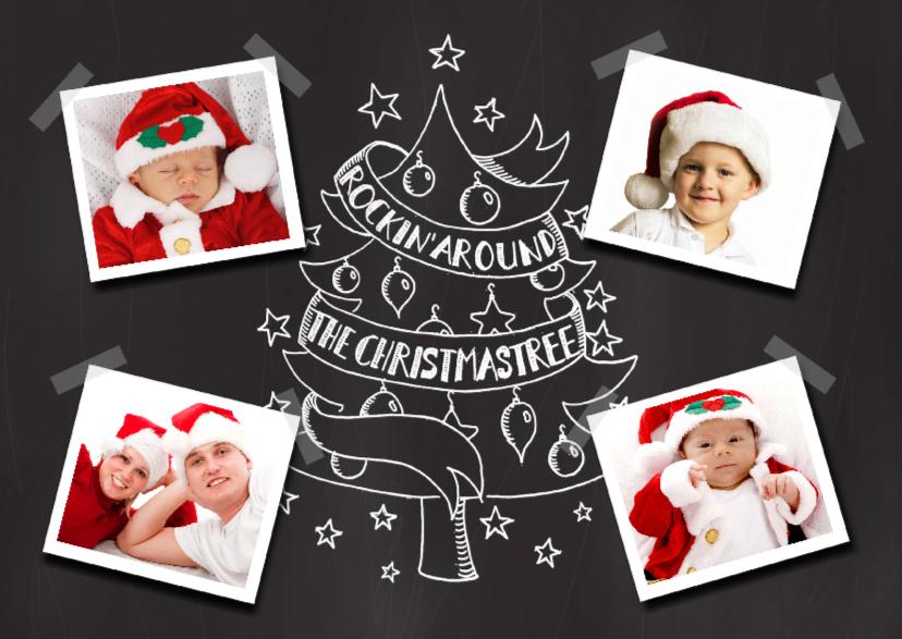 Kerstkaarten - Kerstkaart krijtbordprint & foto's