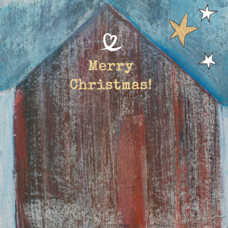 Kerstkaarten - Kerstkaart kunstkaart kerststal