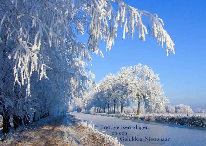 Kerstkaart Landschap in de sneeuw 1