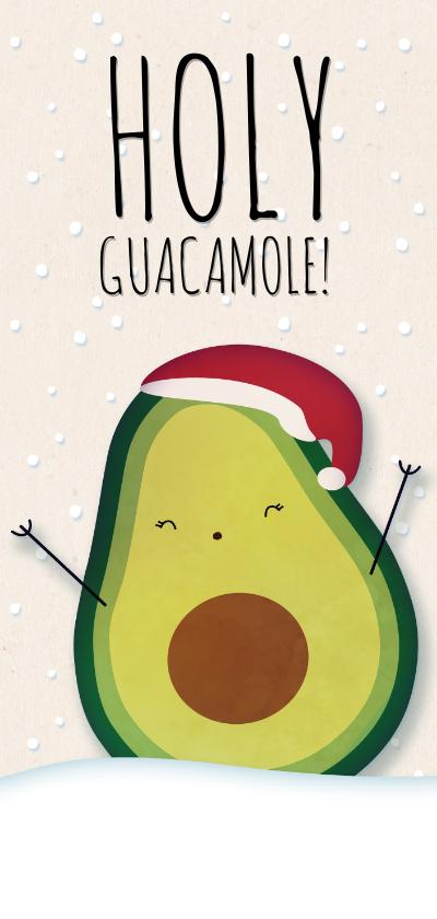 Kerstkaarten - Kerstkaart langwerpig Holy Guacamole! It's Christmas!