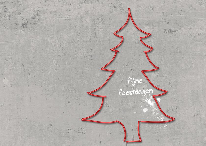 Kerstkaarten - Kerstkaart Licht Kerstboom