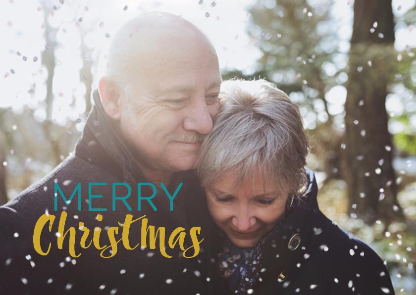 Kerstkaarten - Kerstkaart liefdevolle kerst met foto-effect met sneeuw