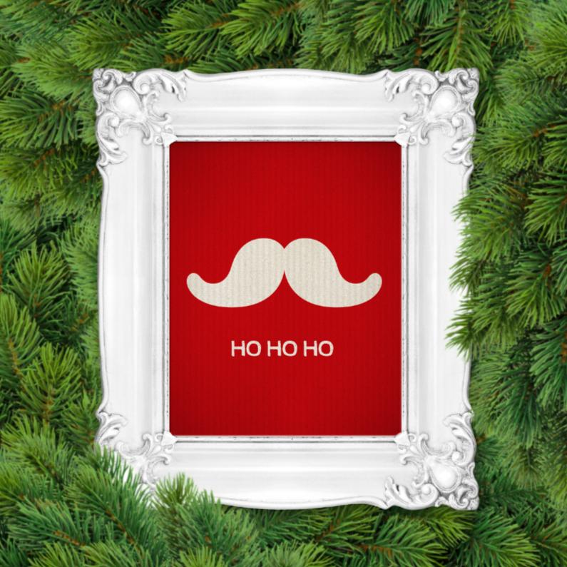 Kerstkaarten - Kerstkaart Lijst snor