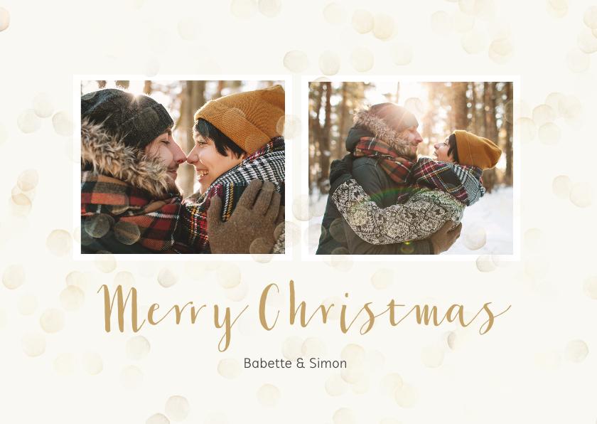 Kerstkaarten - Kerstkaart met dubbele foto staand