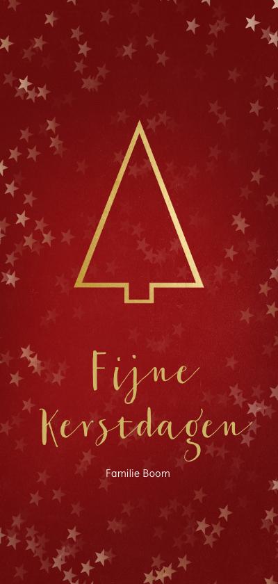 Kerstkaarten - Kerstkaart met een gouden kerstboom - Een gouden kerst