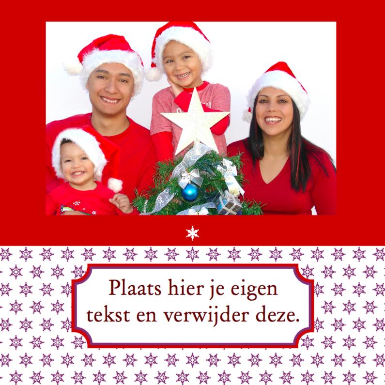 Kerstkaarten - Kerstkaart met eigen tekst en foto