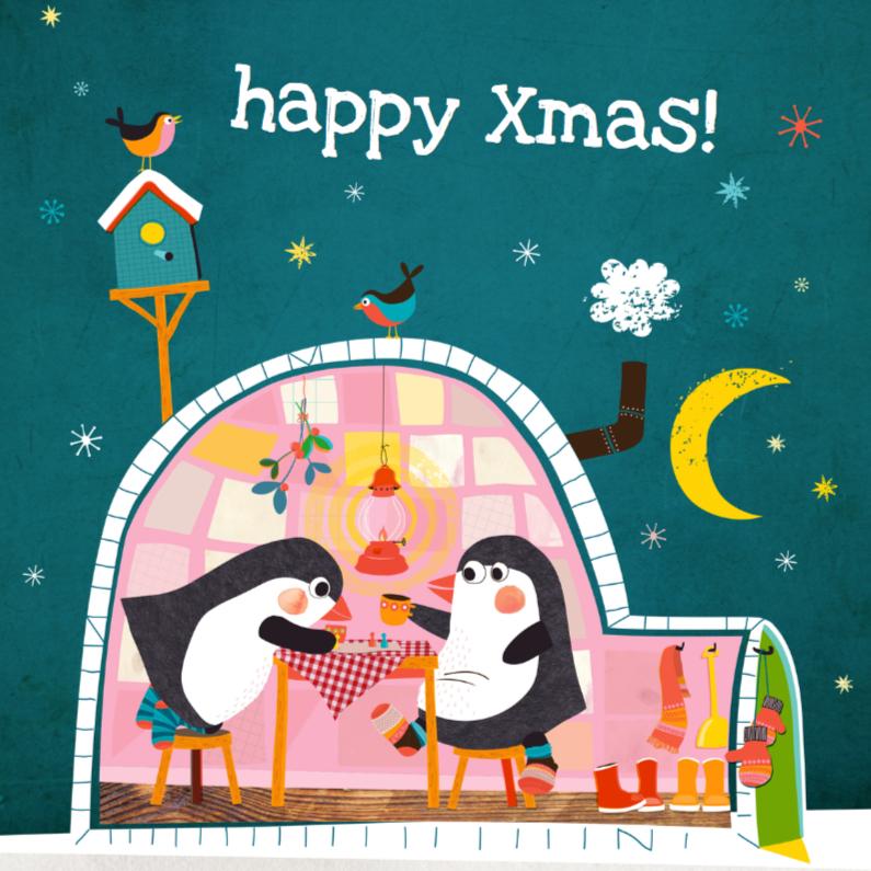 Kerstkaarten - Kerstkaart met iglo