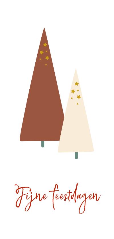 Kerstkaarten - Kerstkaart met kerstbomen illustratie