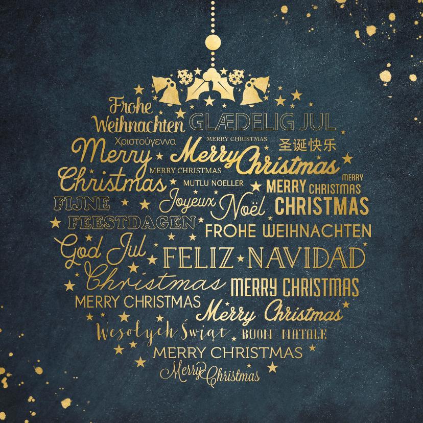 Kerstkaarten -  kerstkaart met kerstgroet in meerdere talen