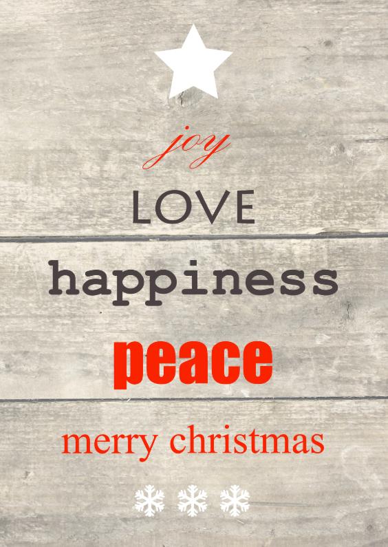 Kerstkaarten - Kerstkaart met mooie tekst