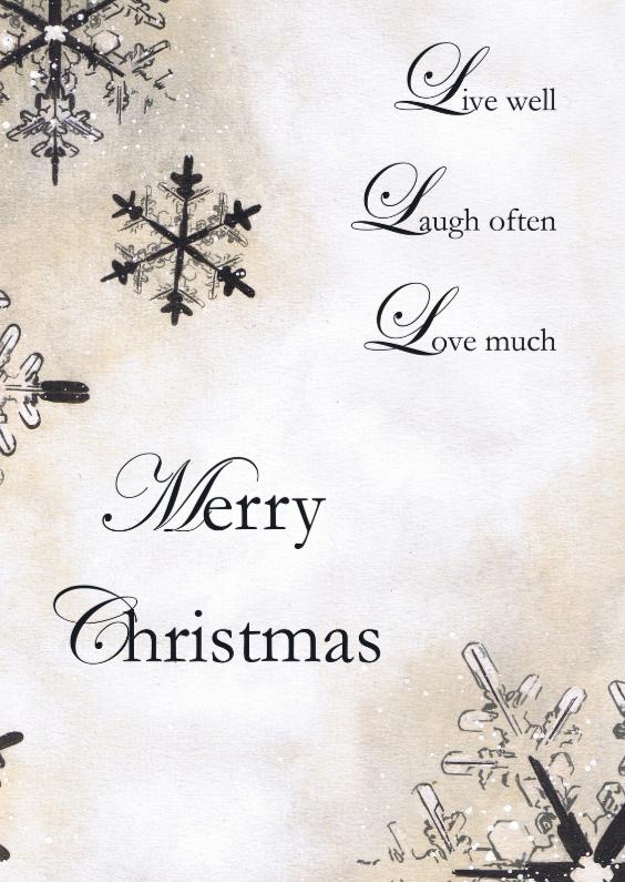 Kerstkaarten - Kerstkaart Met Sneeuwvlokken