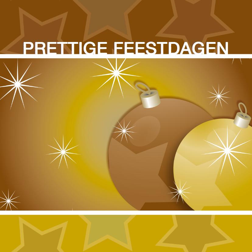 Kerstkaarten - Kerstkaart met sterren en ballen