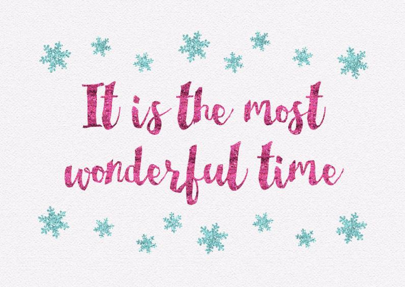 Kerstkaarten - Kerstkaart met tekst wonderful time