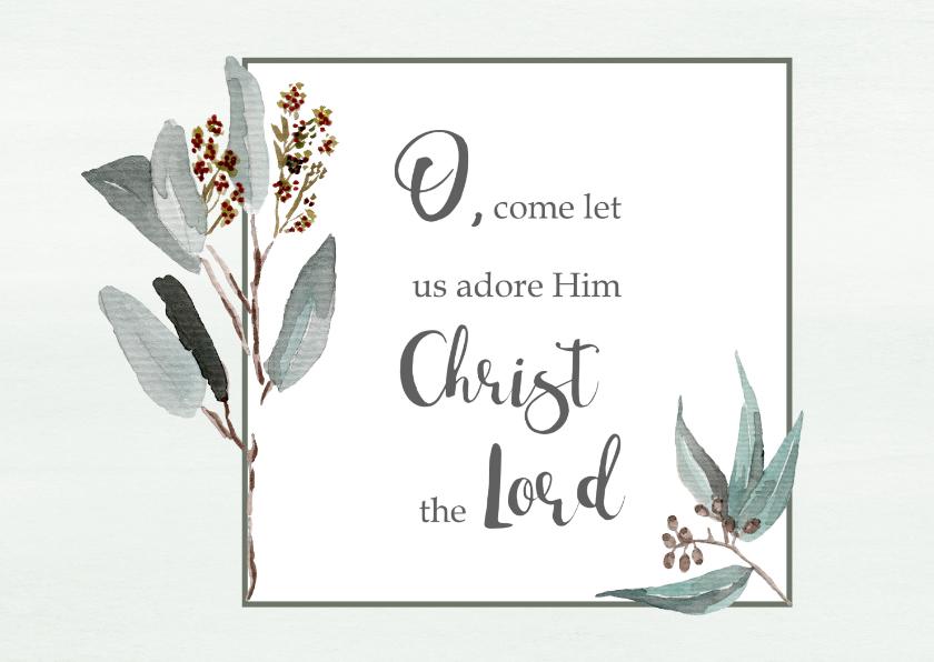 Kerstkaarten - Kerstkaart mint takje Opwekking 529