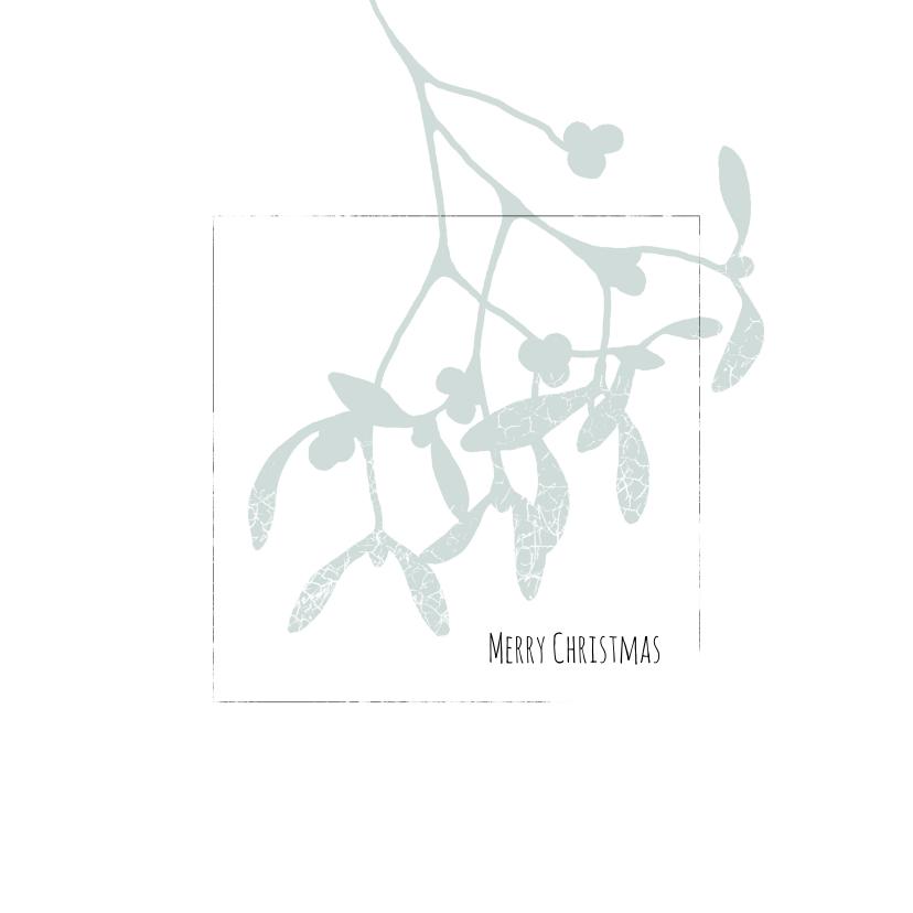 Kerstkaarten - Kerstkaart mistletoe 2020-2021