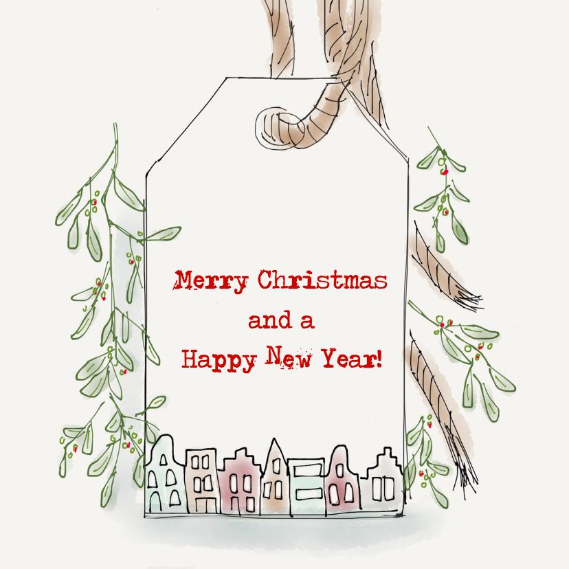 Kerstkaarten - Kerstkaart Mistletoe illustratie