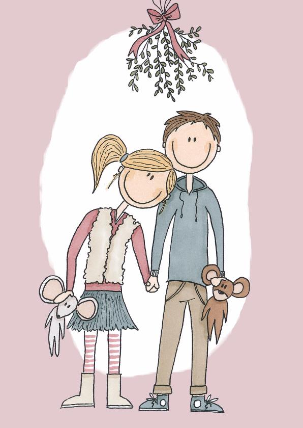 Kerstkaarten - Kerstkaart Mistletoe - LFZ