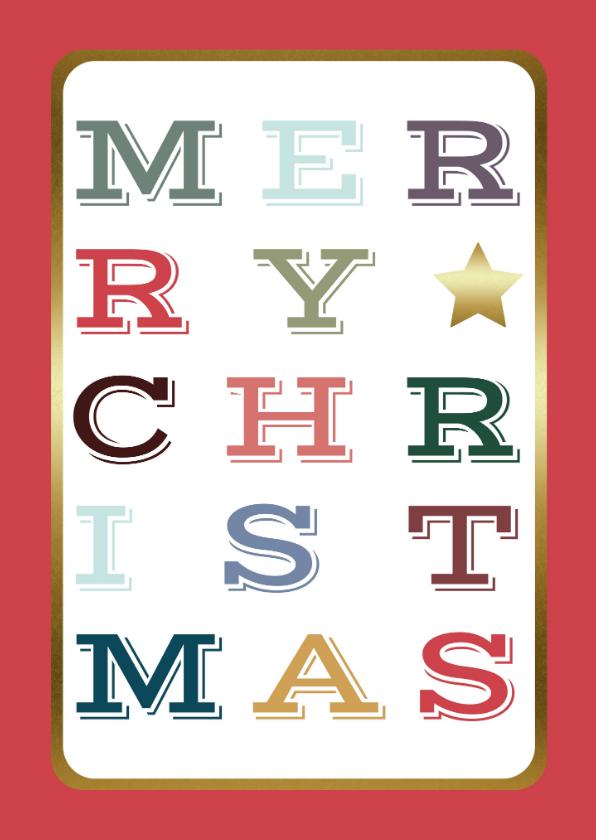 Kerstkaarten -  Kerstkaart – Modern – Merry Christmas/Happy New Year