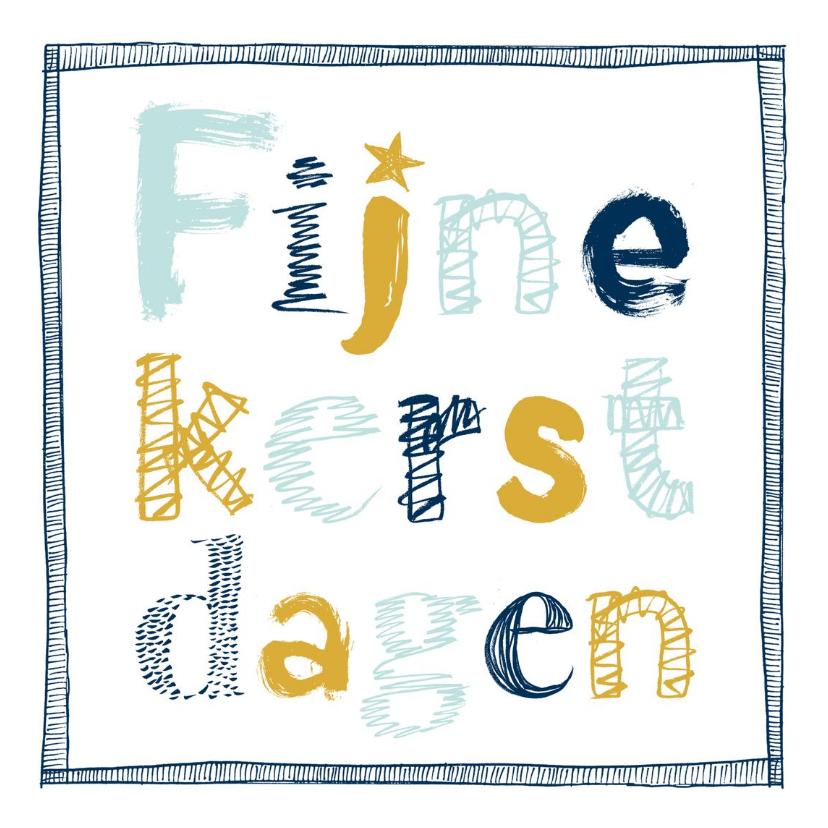 Kerstkaarten - Kerstkaart moderne letters