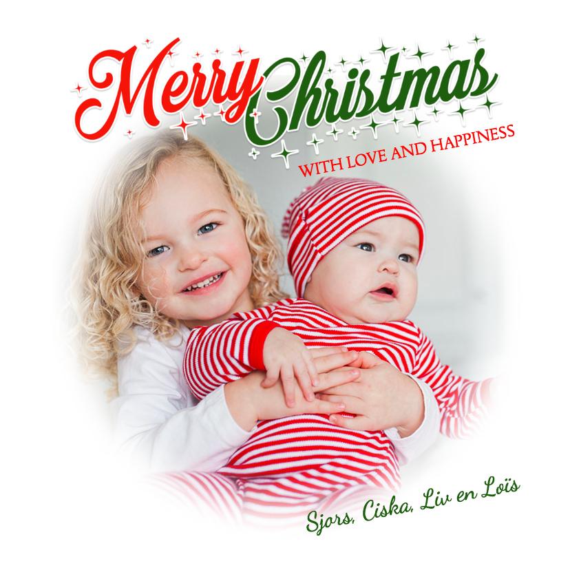 Kerstkaarten - Kerstkaart mooi en schitterend