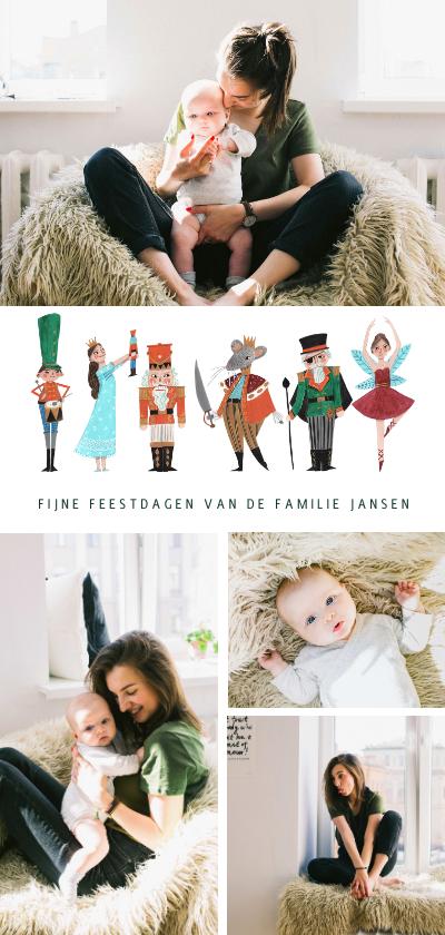 Kerstkaarten - Kerstkaart notenkraker ballet collage