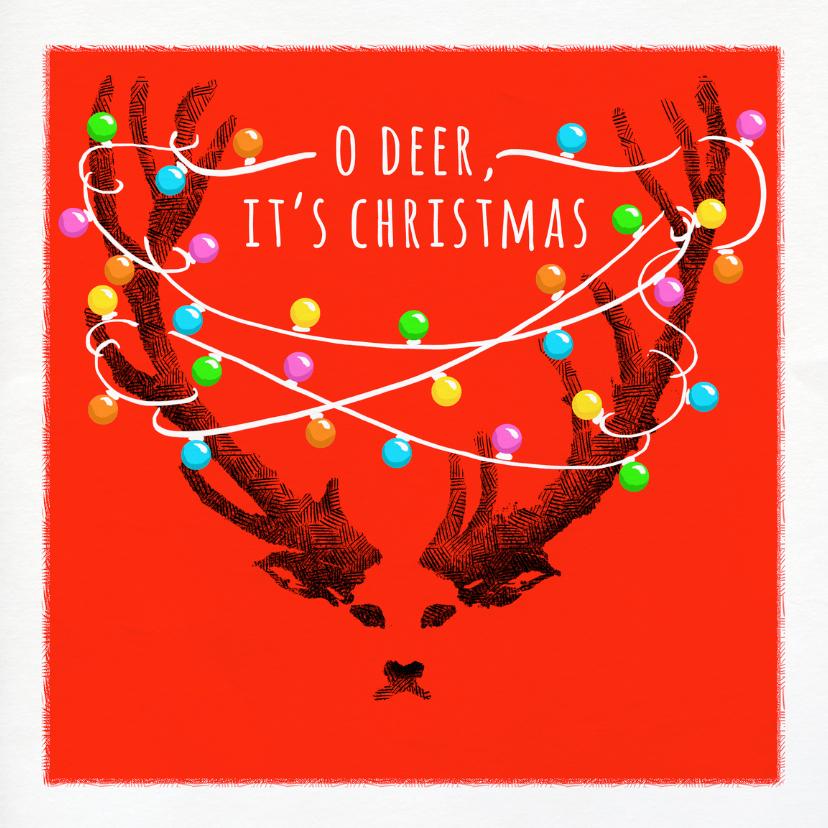 Kerstkaarten - Kerstkaart Oh Deer Christmas