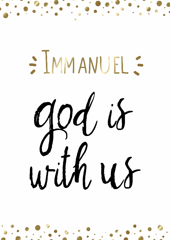 Kerstkaarten - Kerstkaart Opwekking 531 Immanuel