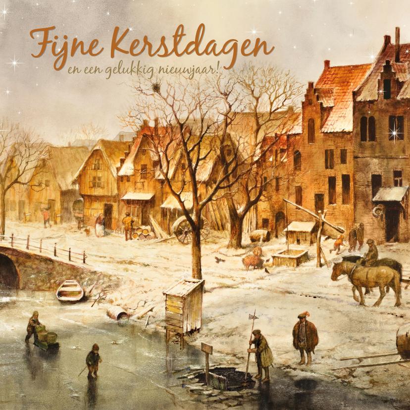 Kerstkaarten - Kerstkaart Oudhollandse Winter