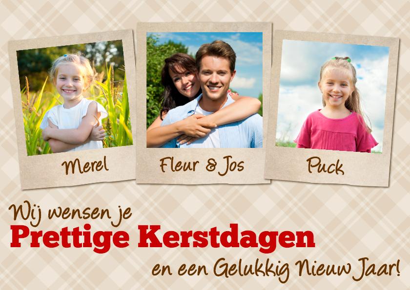 Kerstkaarten - Kerstkaart Polaroid Eigen Foto Ruit