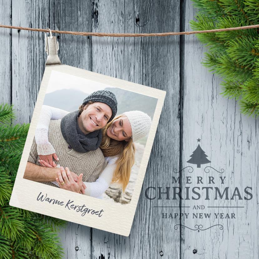 Kerstkaarten - Kerstkaart met foto kersttak