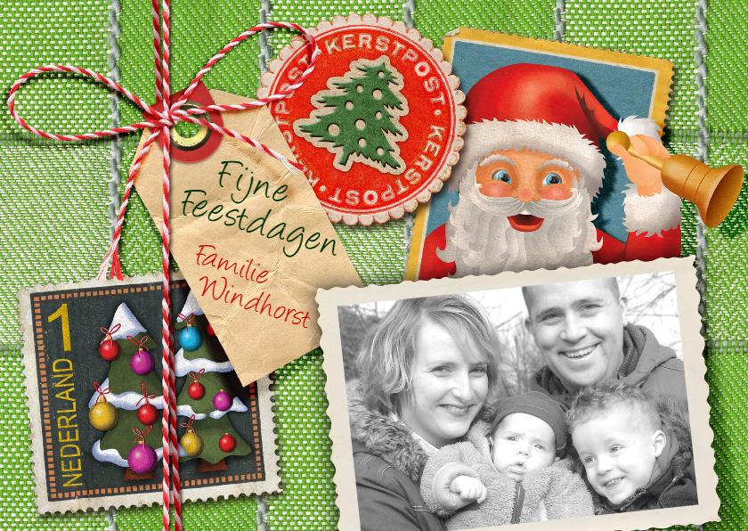 Kerstkaarten - Kerstkaart post kerstman groen