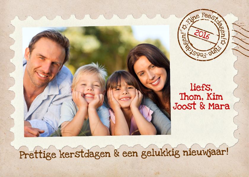 Kerstkaarten - Kerstkaart Postkaart Stempel Foto