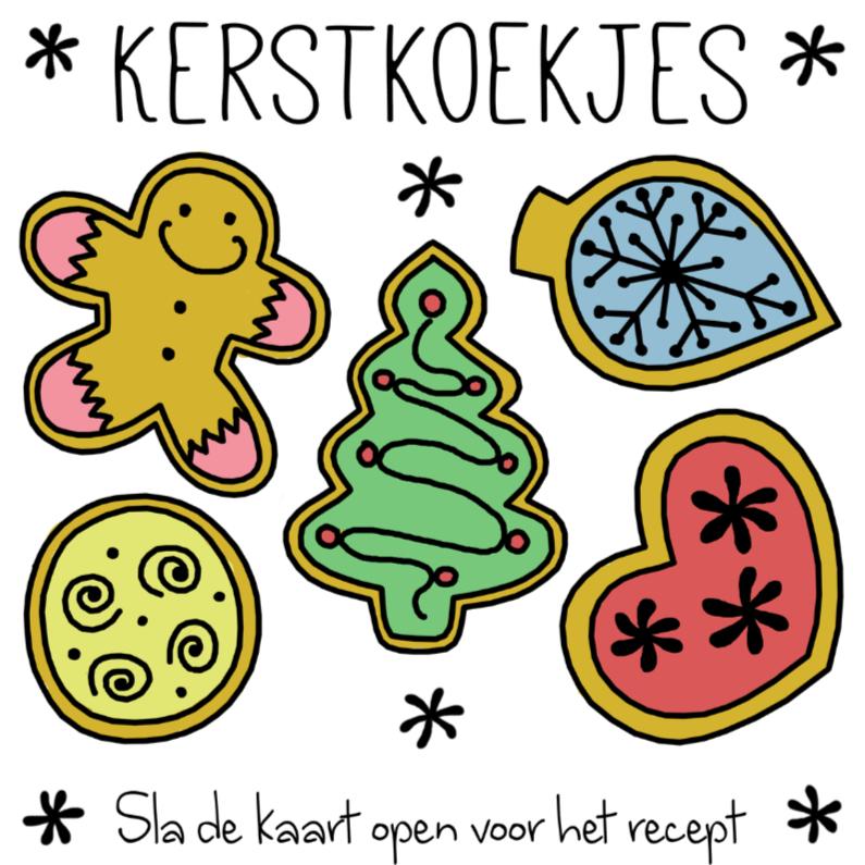 Kerstkaarten - Kerstkaart recept kerstkoekjes