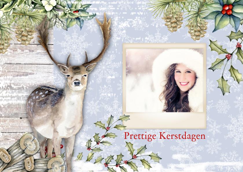 Kerstkaarten - Kerstkaart rendier met  foto