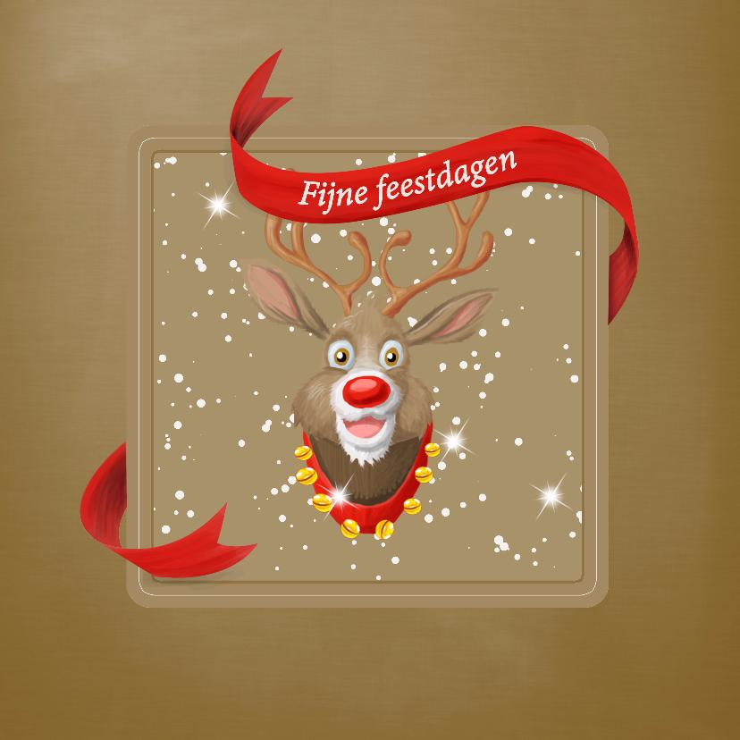 Kerstkaarten - Kerstkaart Rudolph