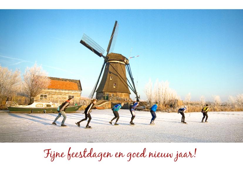 Kerstkaarten - Kerstkaart-schaatsers