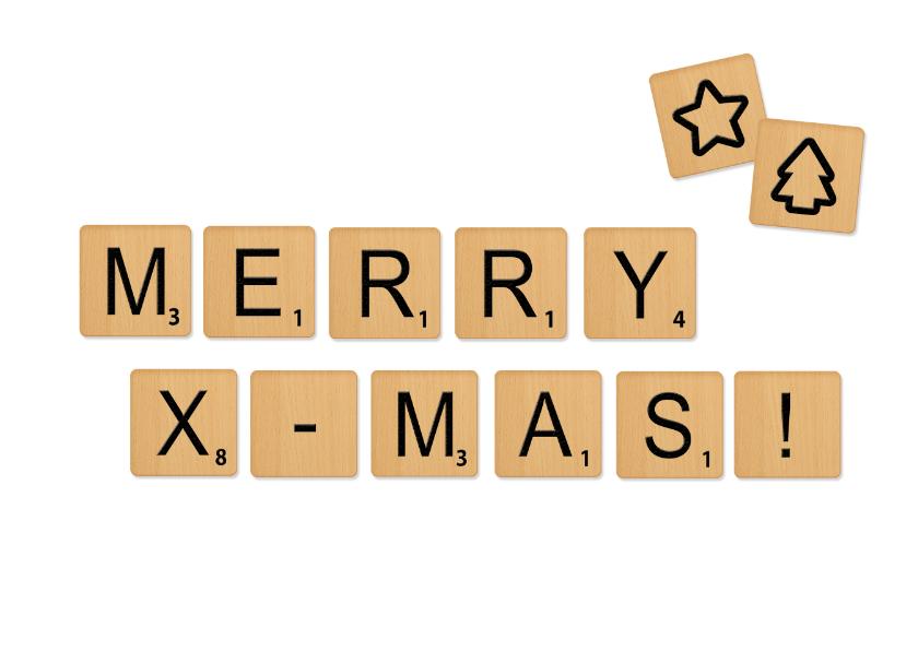 Kerstkaarten - Kerstkaart Scrabble X-mas