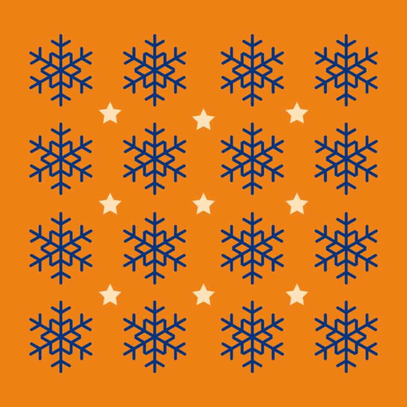 Kerstkaarten - Kerstkaart  sneeuwster 19