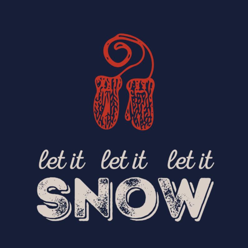 Kerstkaarten - Kerstkaart SNOW