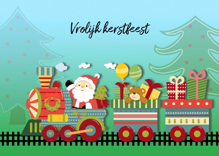 Kerstkaarten - Kerstkaart speelgoedtrein