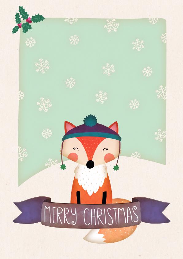 Kerstkaarten - Kerstkaart staand vos