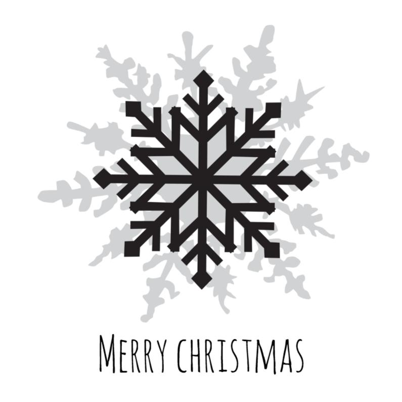 Kerstkaarten - Kerstkaart-ster-zwartwit-SK
